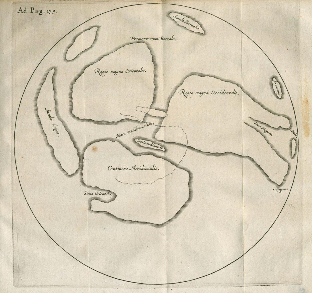 Gilbert's naked eye Moon map