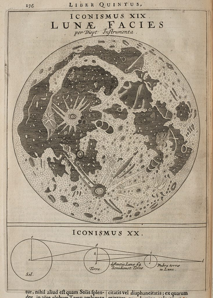 Divini's drawing of the Moon (1665-72)
