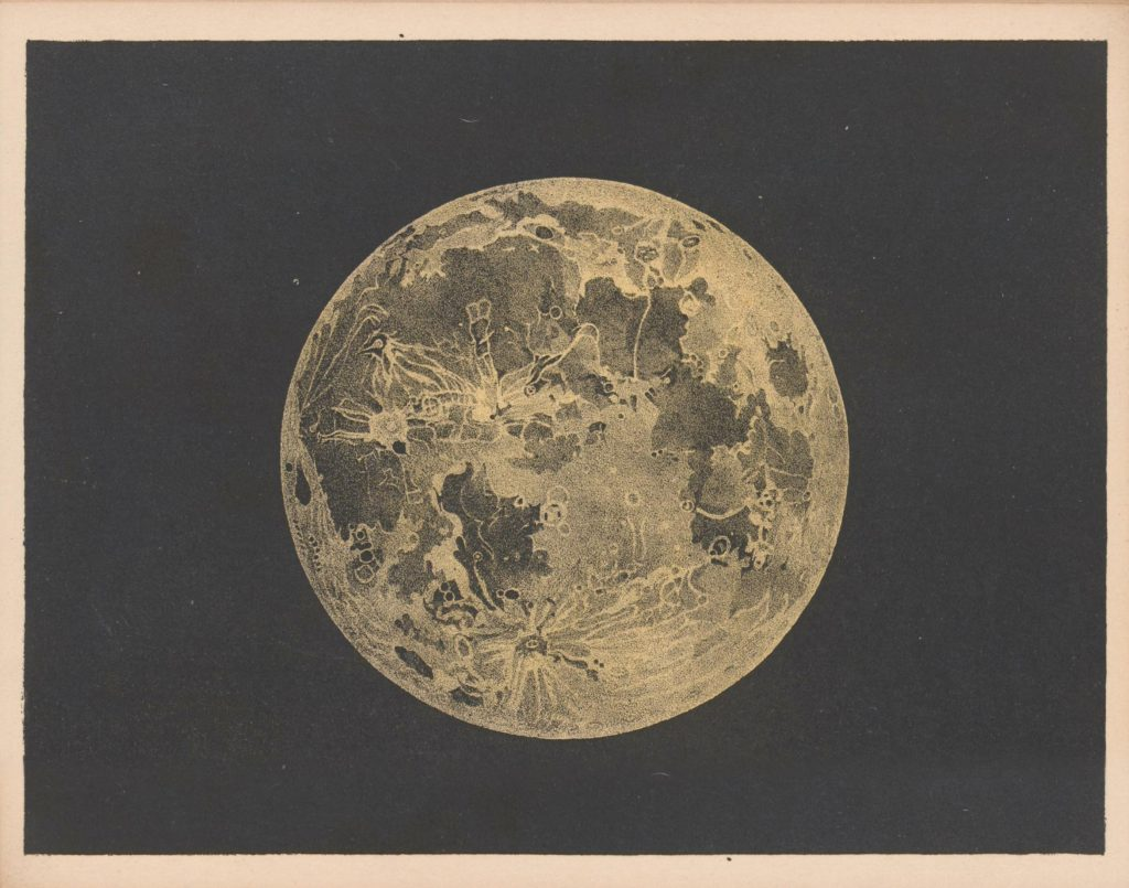 Drawing of the Moon (Blunt, 1842)