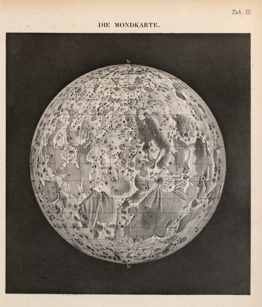 Map of the Moon (Müller 1856)