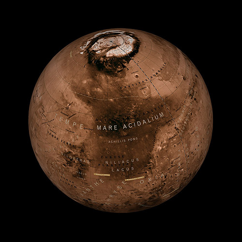 Globe of Mars, Budapest (2009)