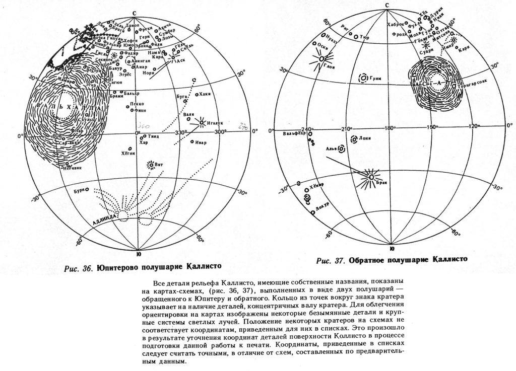 G.A. Burba's Callisto Map with Nomenclature
