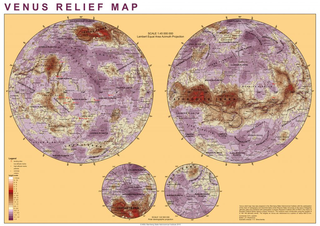 Hypsometric Map of Venus (2007-11)