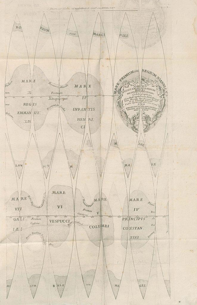 Map of Venus (Bianchini) (1728)