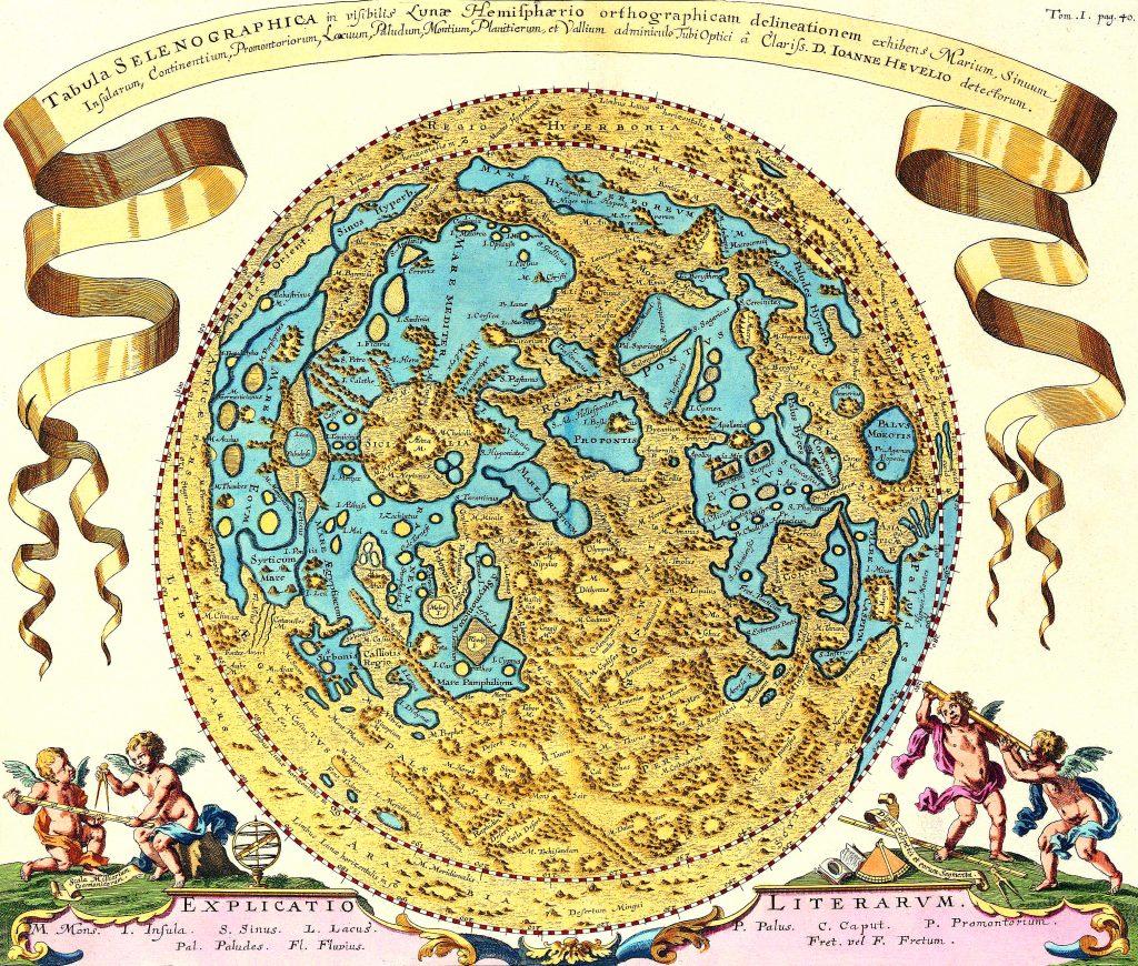 Hevelius' map of the Moon (1645-1746)