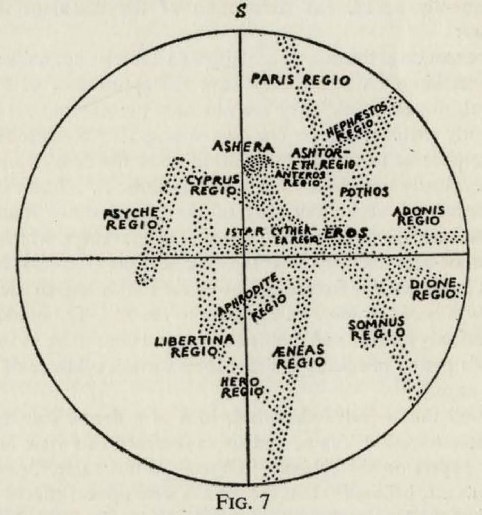 Lowell's Map of Venus (1897)