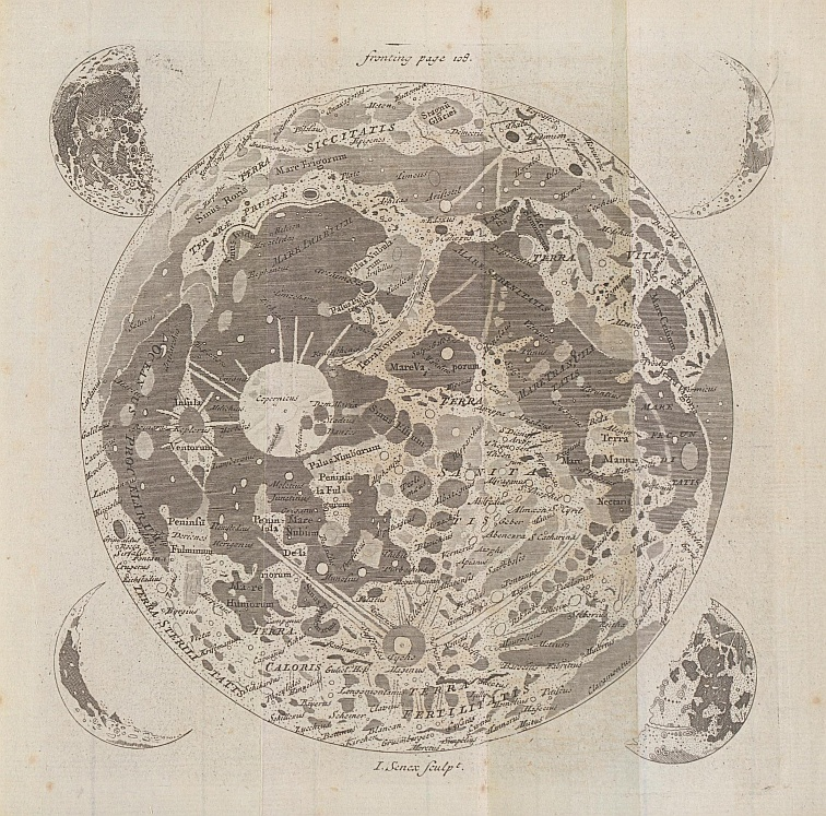 Keill's Map of the Moon (1778)
