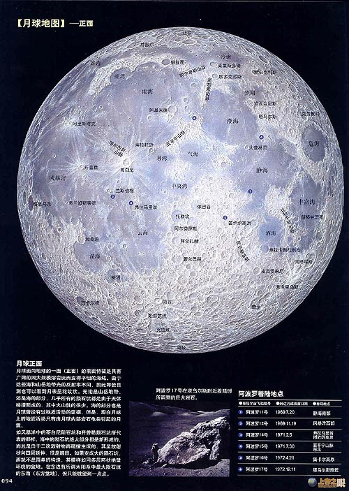 Chinese poster of the Moon