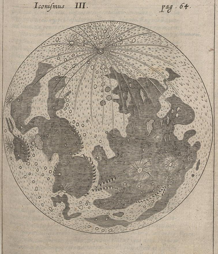 Kircheri's Drawing of the Moon (1660)
