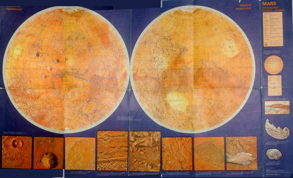 Map of Mars DDR (1984)