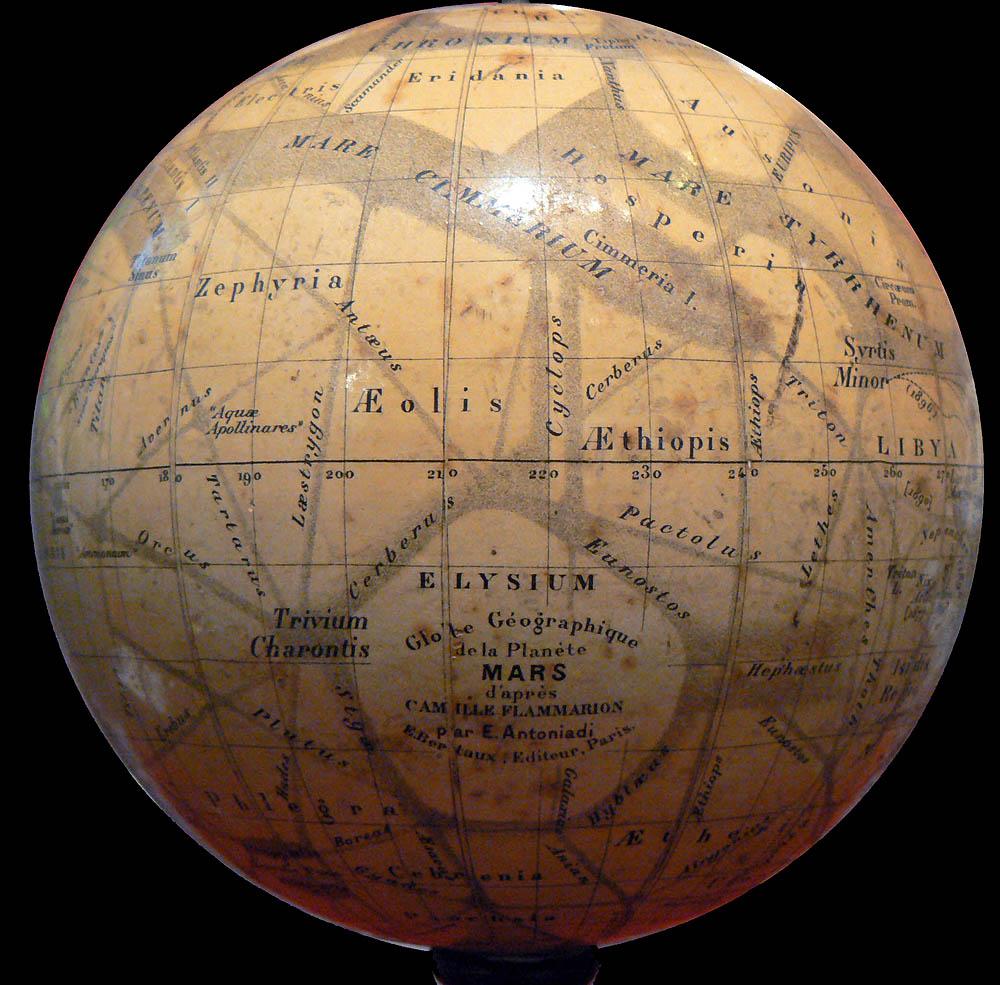 Antoniadi's Globe Géographique de la Planéte Mars