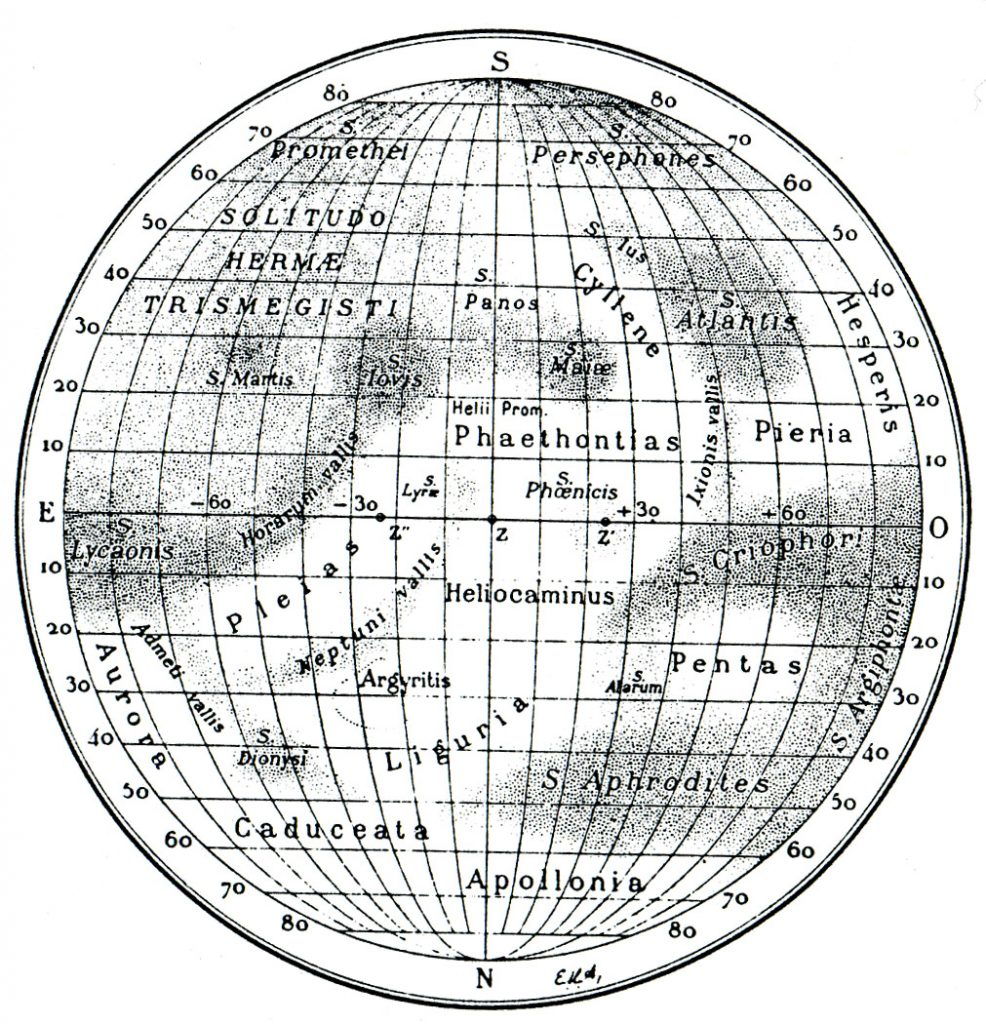 Antoniadi's Map of Mercury (1934)