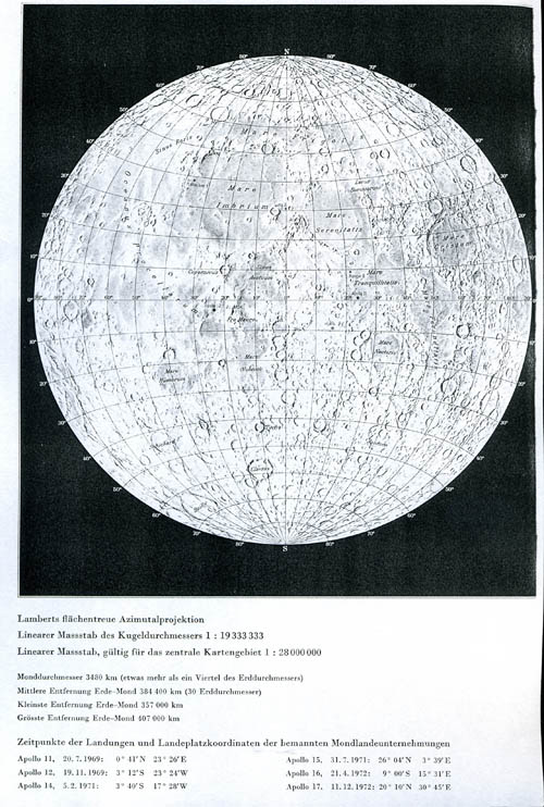 Swiss World Atlas Map of the Moon