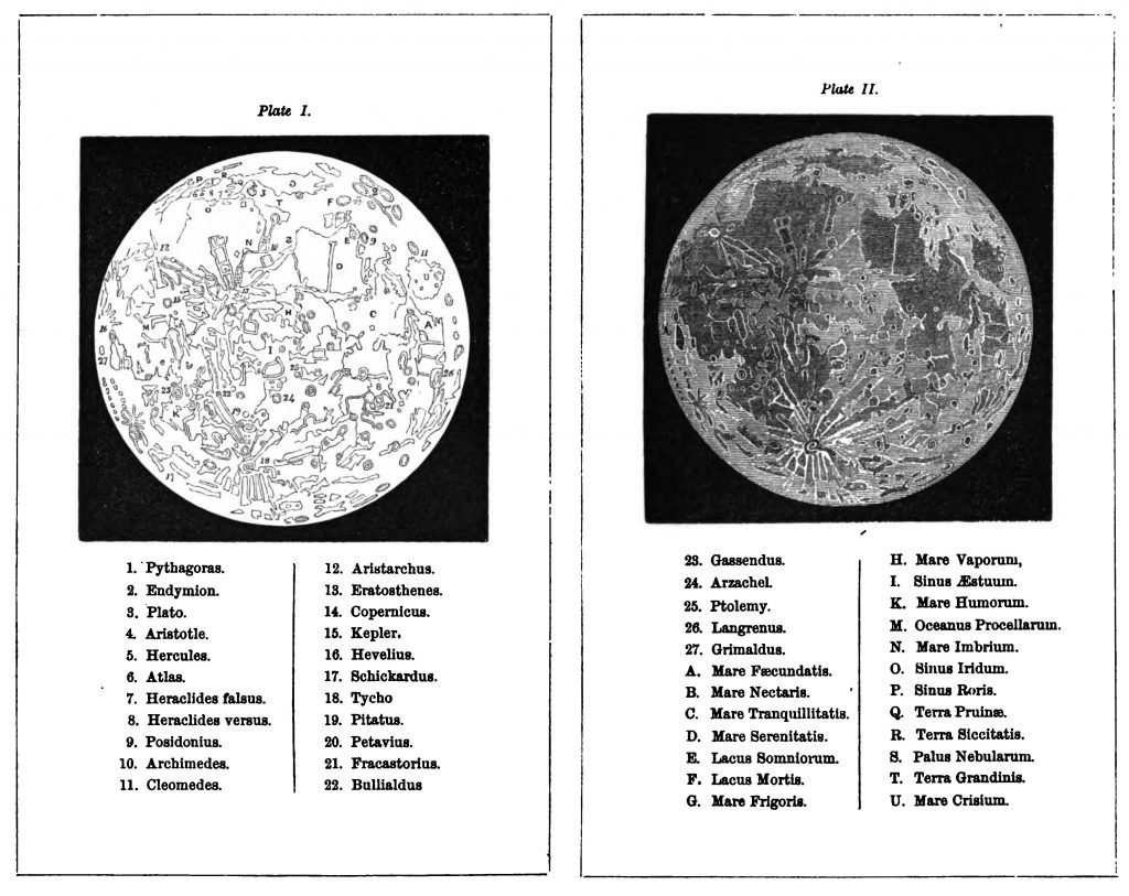 Penny Cylopaedia's Map of the Moon (1863)