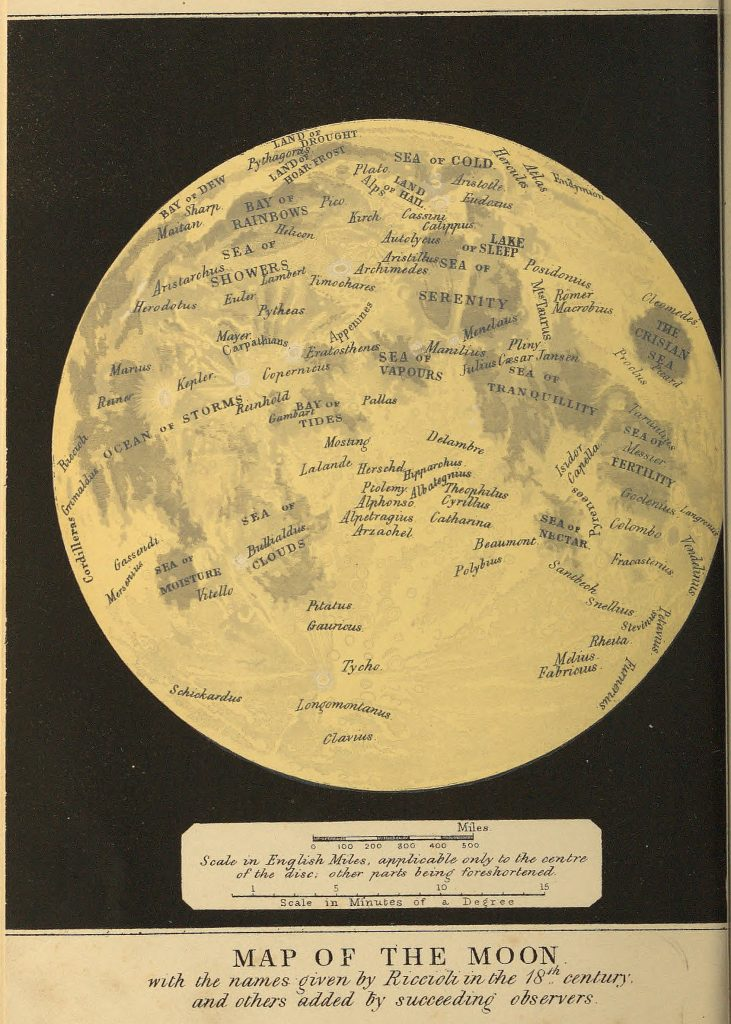 Ward's Map of the Moon (1869)