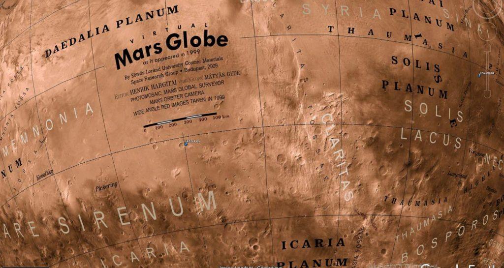 Virtual Globe of Mars: Albedo (2009)