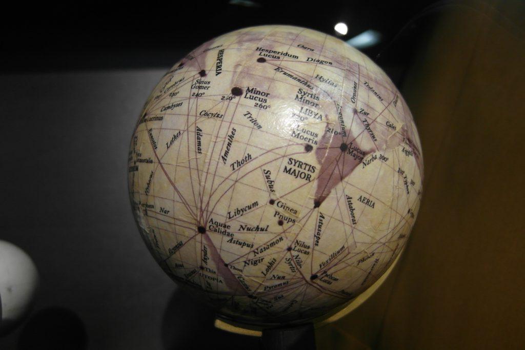 Lowell's Globe of Mars (1905)