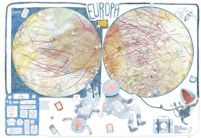 Children's Map of Europa