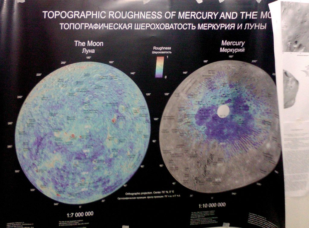 Topographic Roughness of Mercury and the Moon