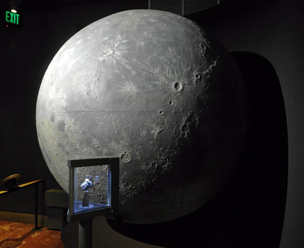 Globe of the Moon at Griffith Observatory