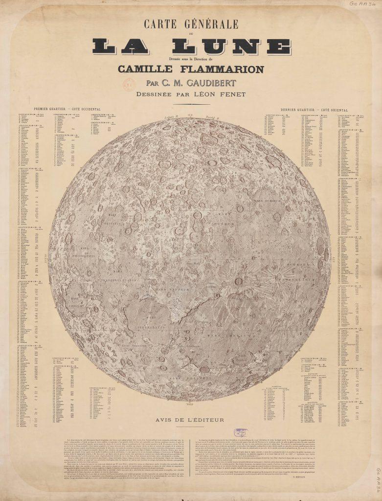 Map of the Moon (Flammarion/Gaudibert/Fenet 1887-1900)