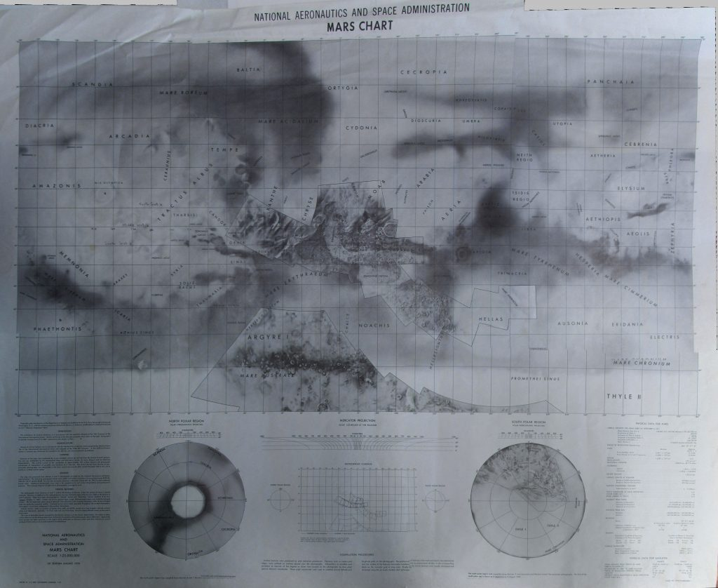 NASA Mars Chart 1970 (Mariner 6-7 results)