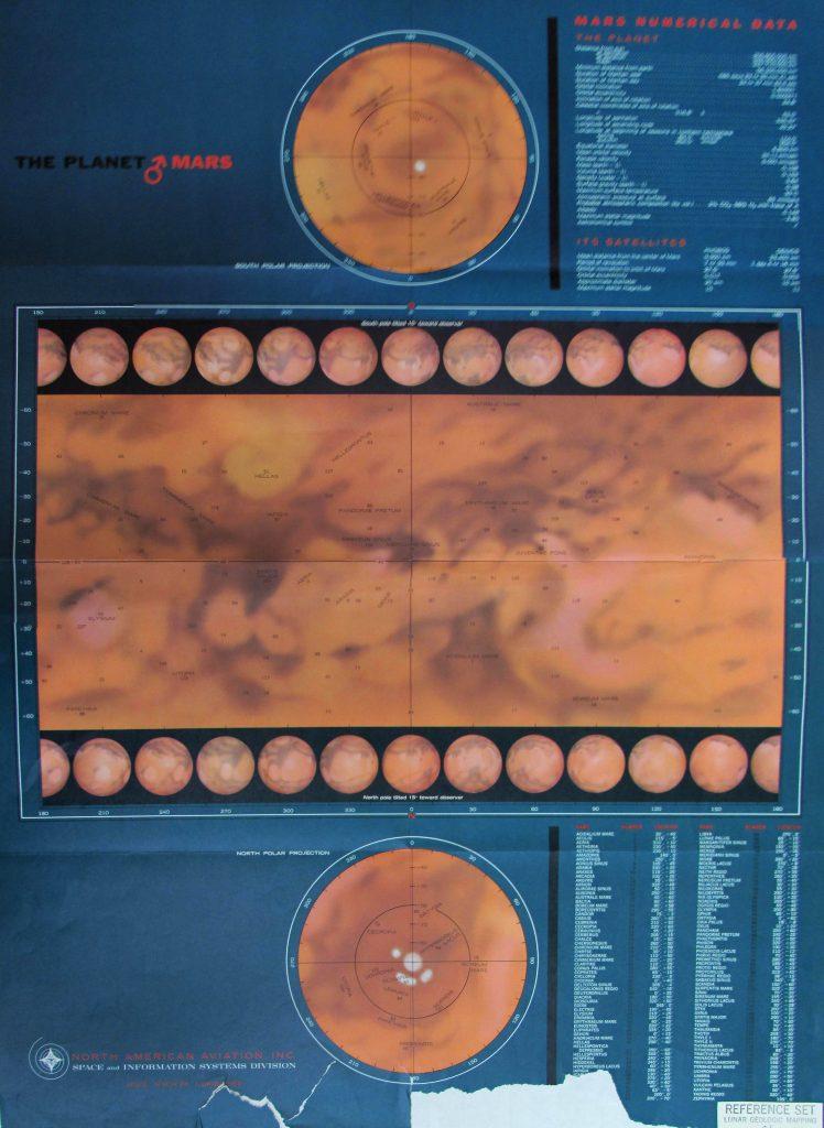 North American Aviation map of Mars