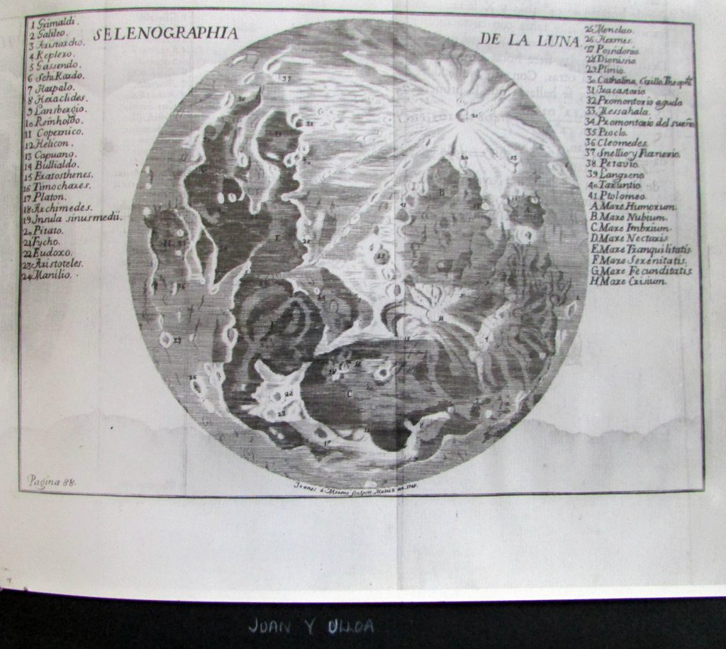 Ulloa's map of the Moon