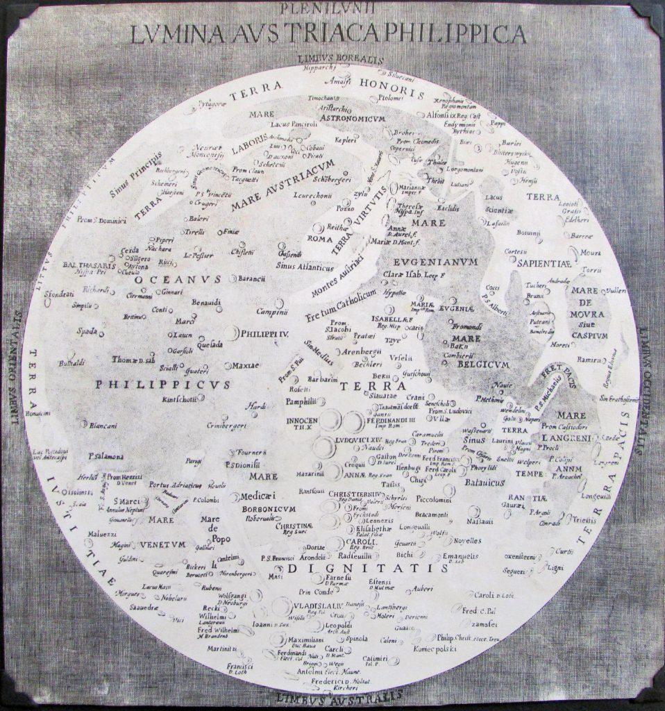 Langrenus' map of the Moon (1645)