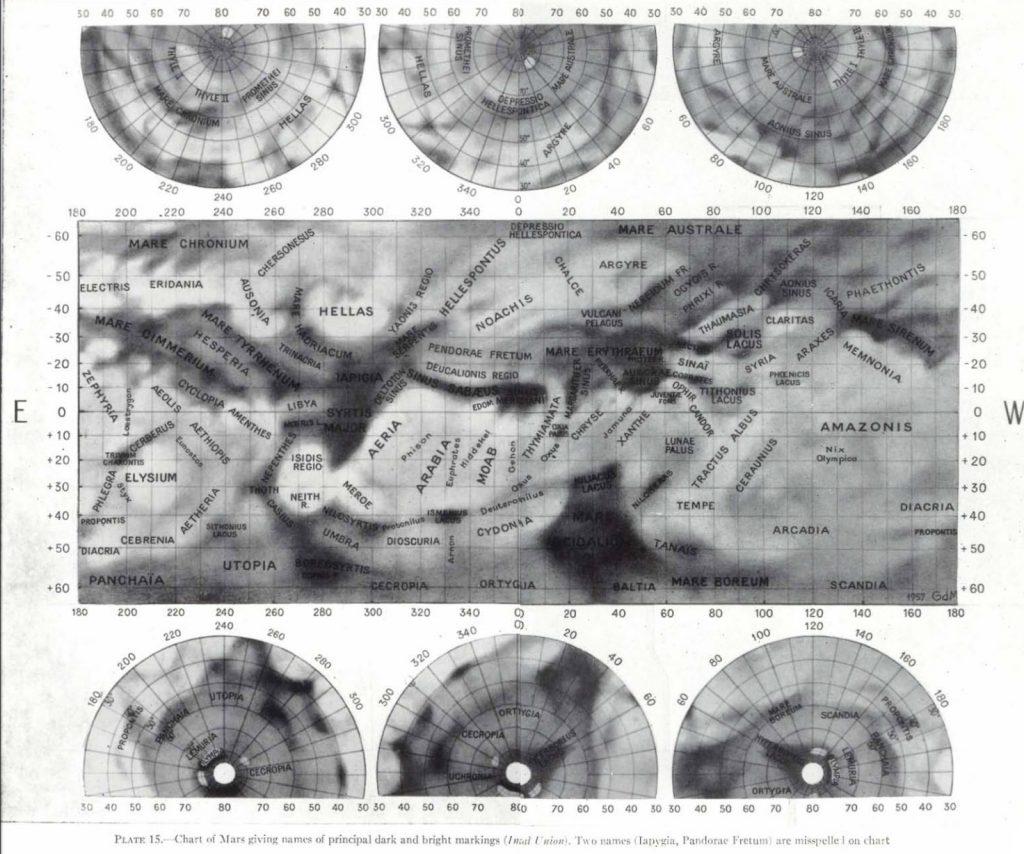 Mottoni's IAU Map of Mars (1941-52)
