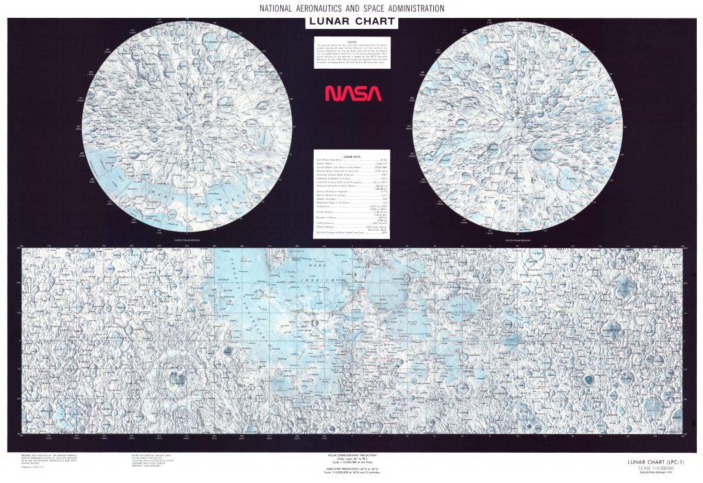 NASA Lunar Chart LPC-1