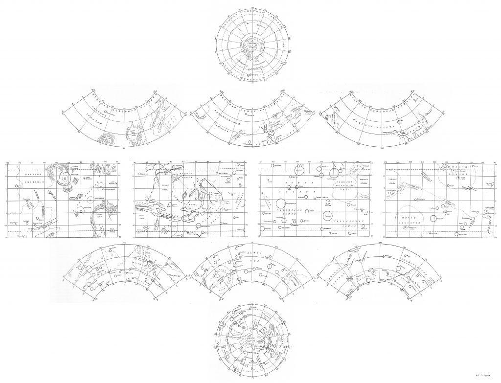 G.A. Burba's Outline Map of Mars
