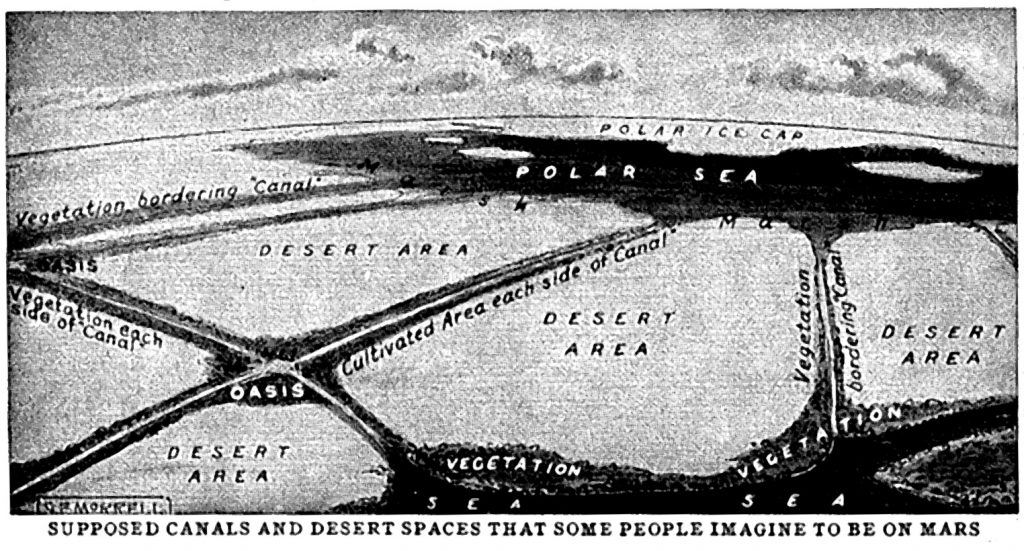"""Face of Mars"" map (1943)"