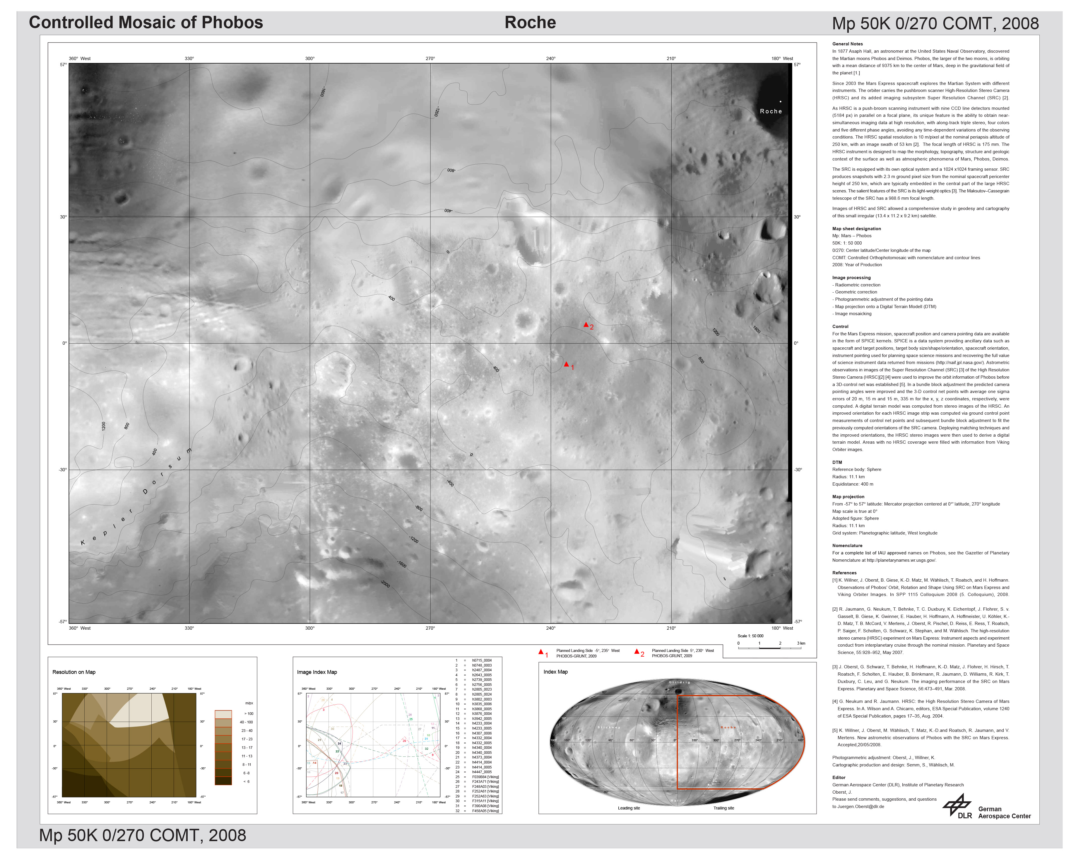 The Martian Moon Phobos; A Geodetic Analysis of its Motion, Orie
