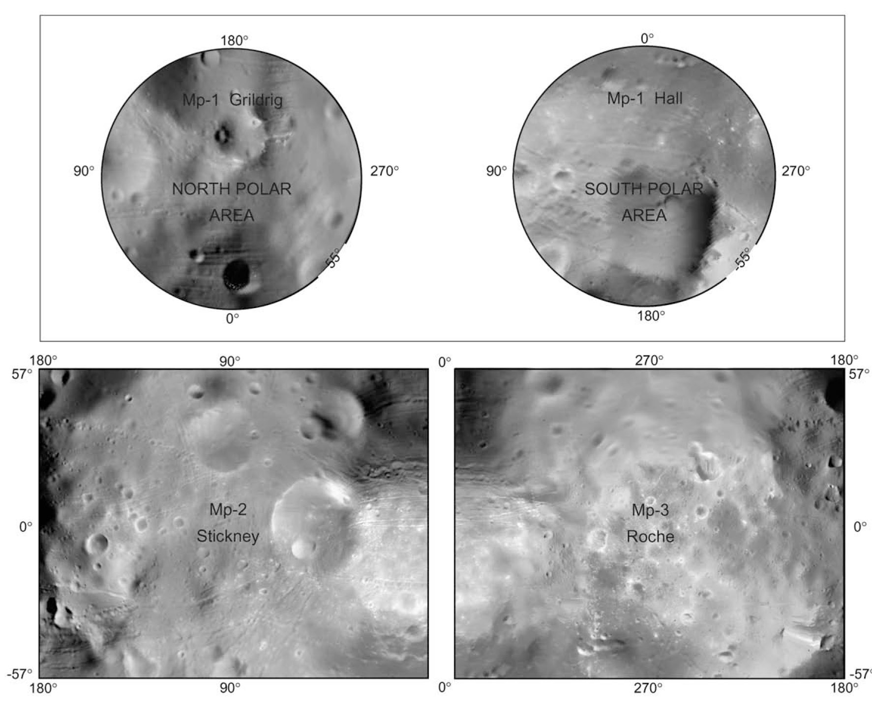 A new topographic image atlas of Phobos
