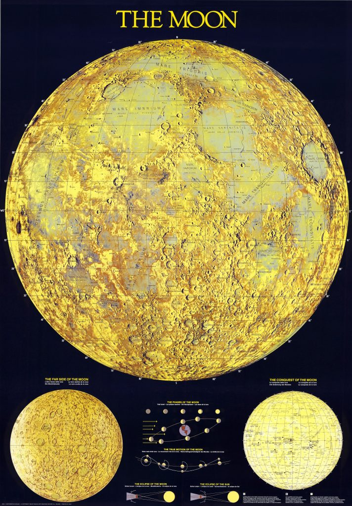 Cartographia Milano Map of the Moon (1988)