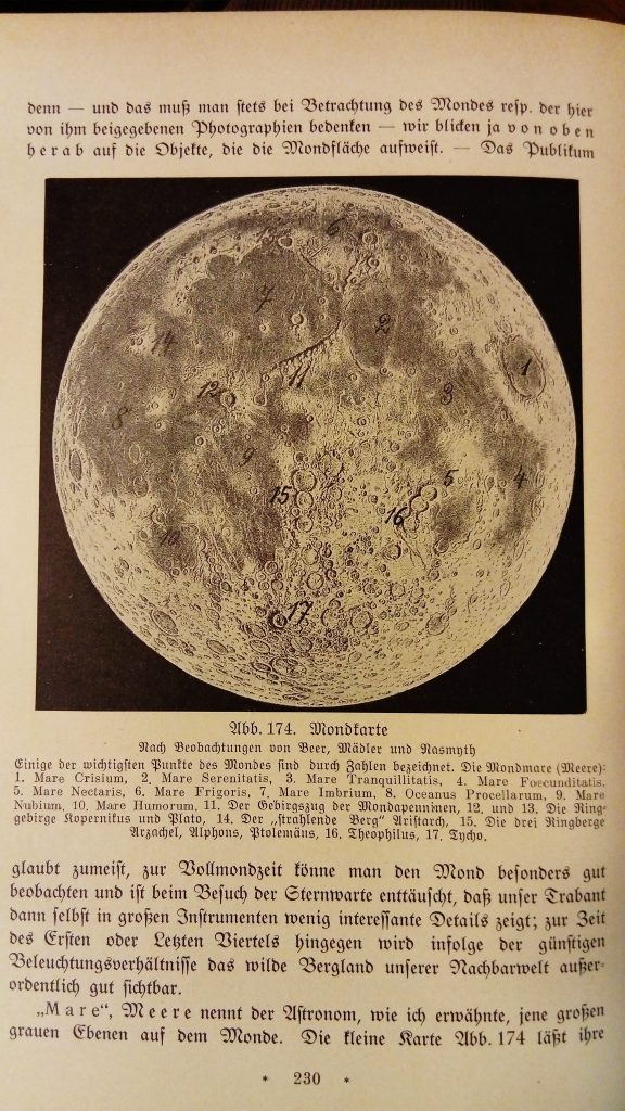 Bruno Bürgel's Moon map (1924)