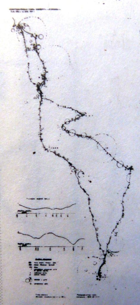 Lunokhod 1 traverse map