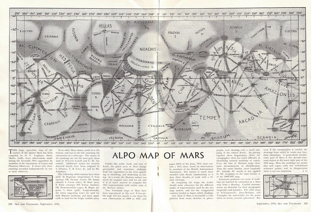 ALPO map of Mars