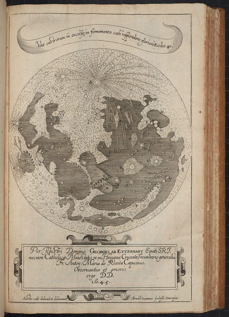 Rheita's Moon map (1645)