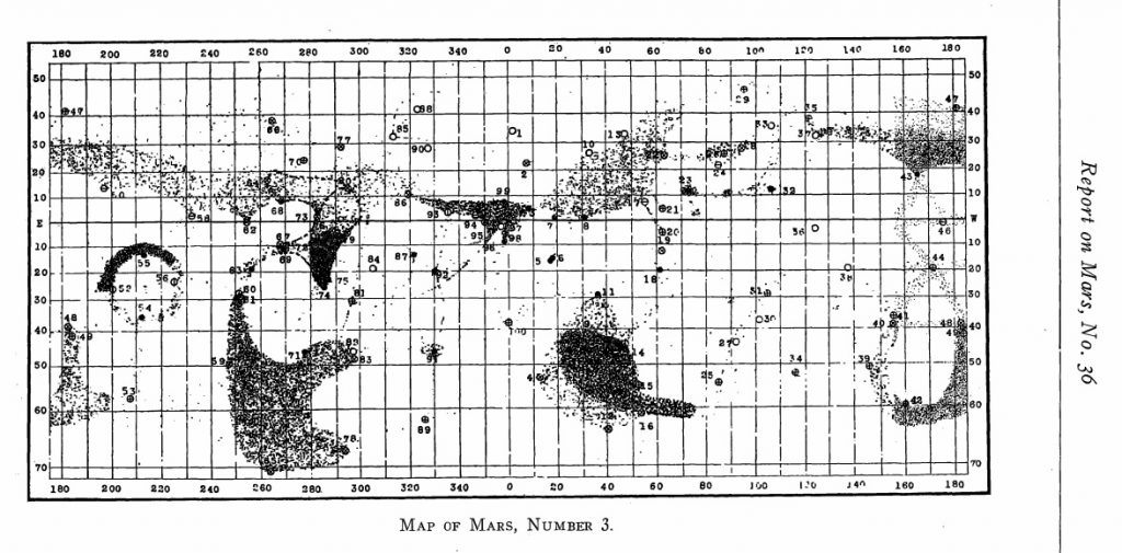 Pickering's map of Mars, 1926