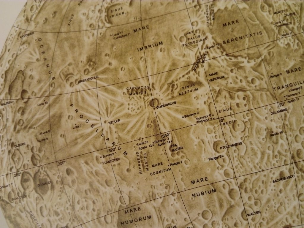 Dresden map of the Moon