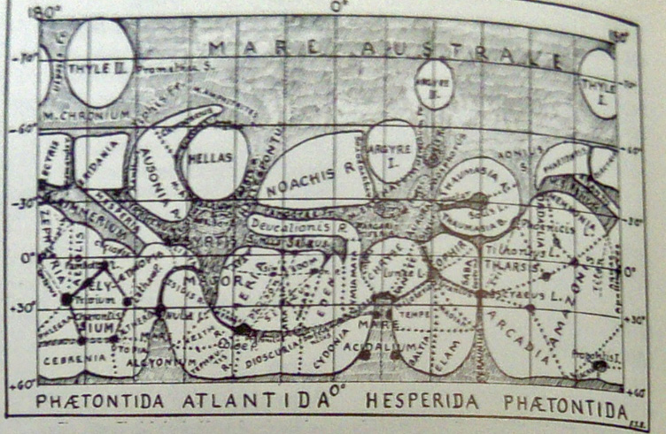 Lopez and Escalante's maps of Mars (1956)