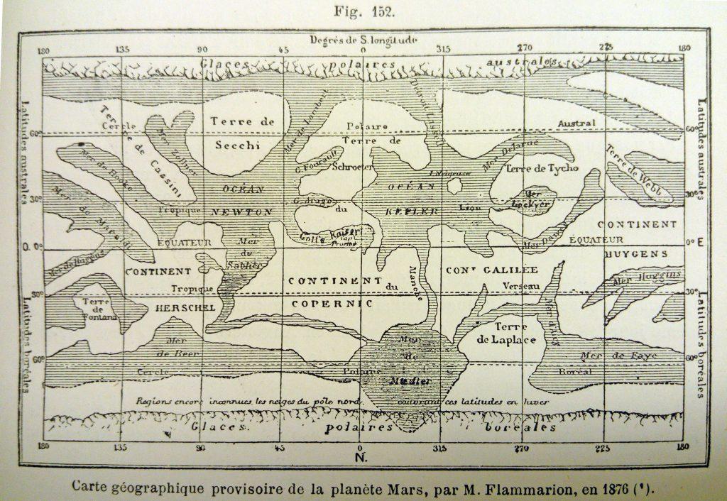 Flammarion's Maps of Mars (1876-90)