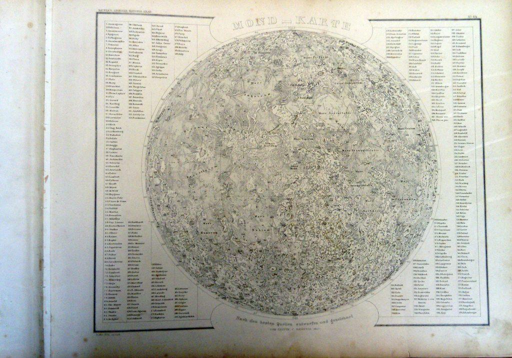 Mond—Karte Nach dem besten Quellen entworfen und gezeichnet