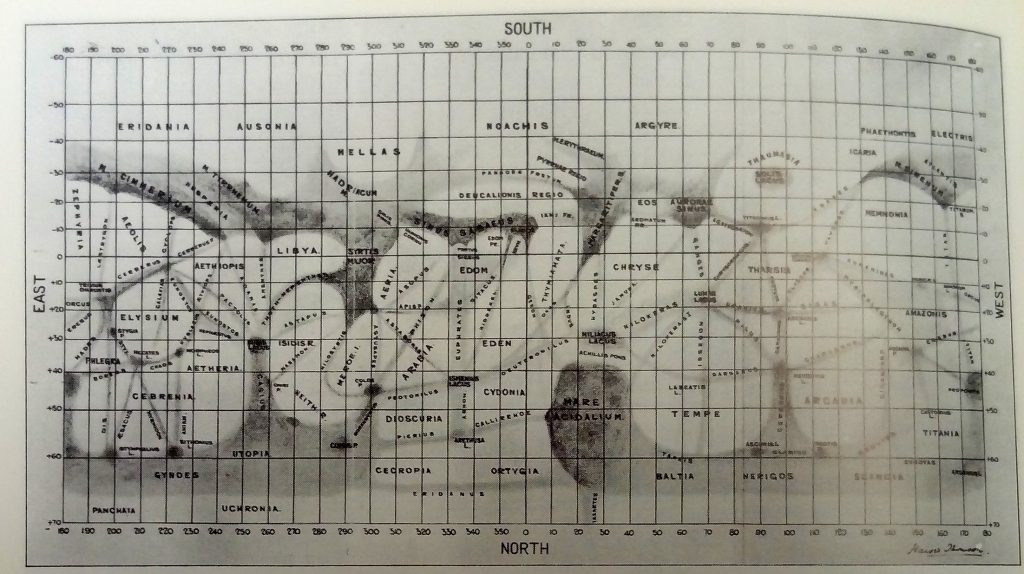 Thomsen's map of Mars (1927)