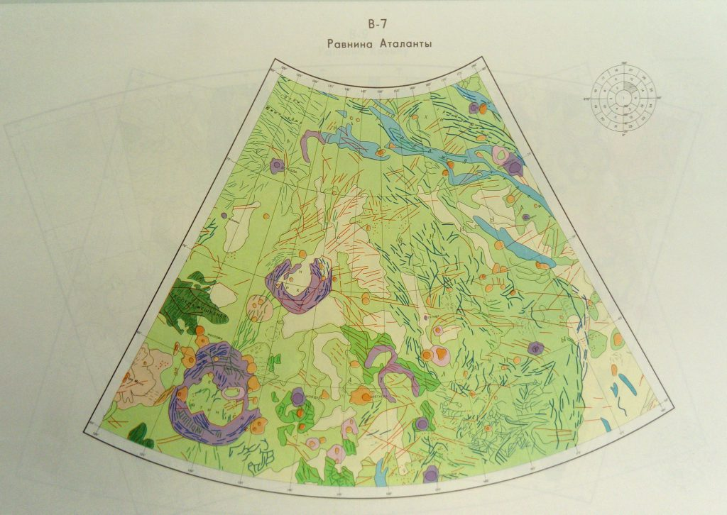 Geological maps of Venus (1989, Soviet)