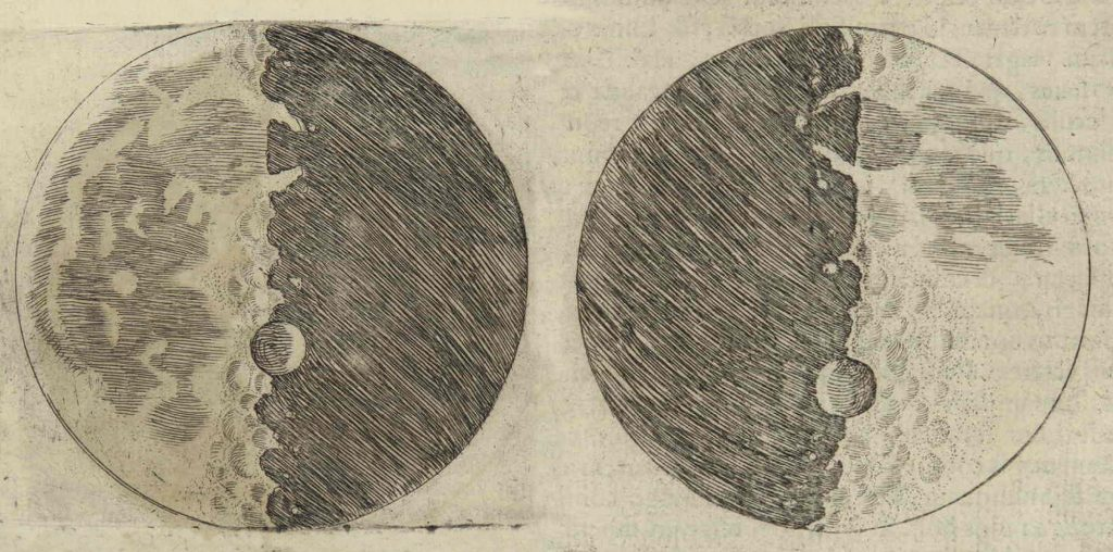 Galileo's Moon Drawing