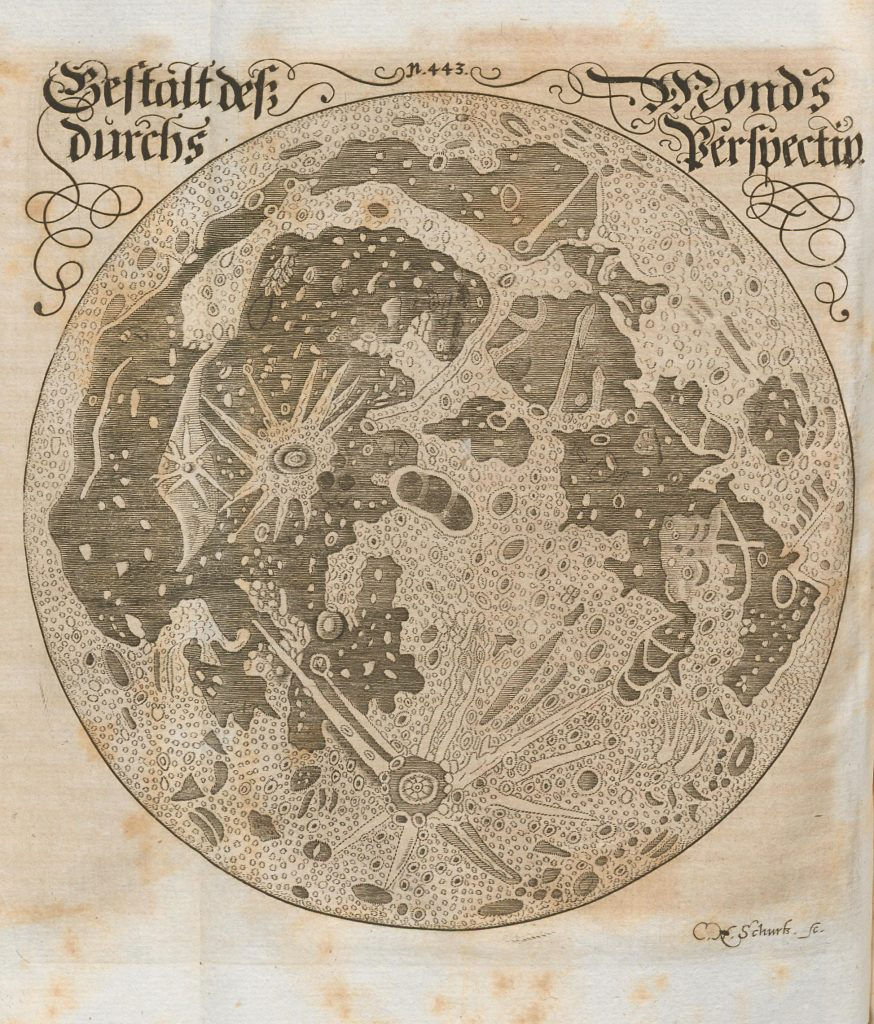 Francisci's drawing of the Moon (1676)