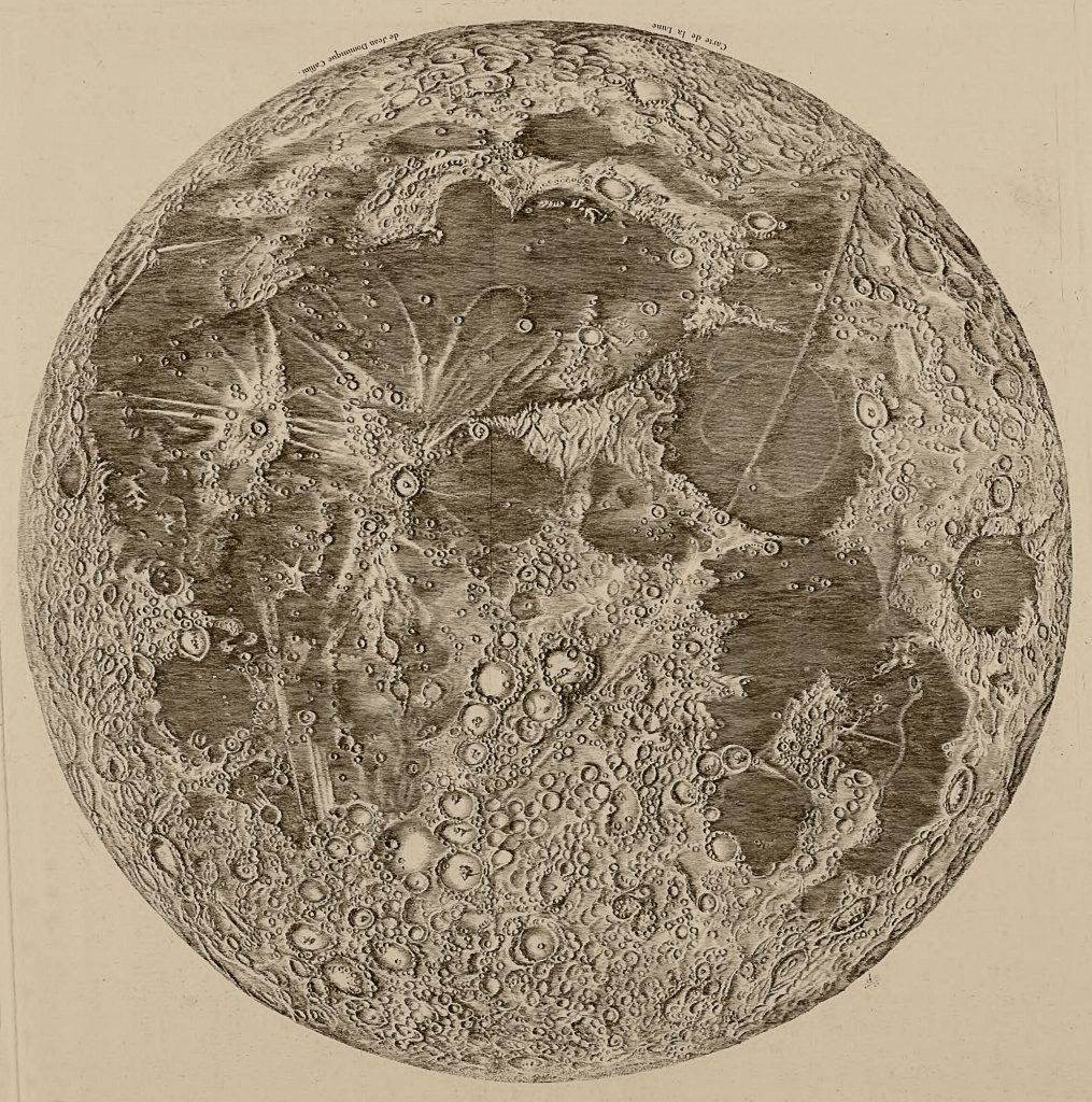 Cassini's map of the Moon (1679-1692)